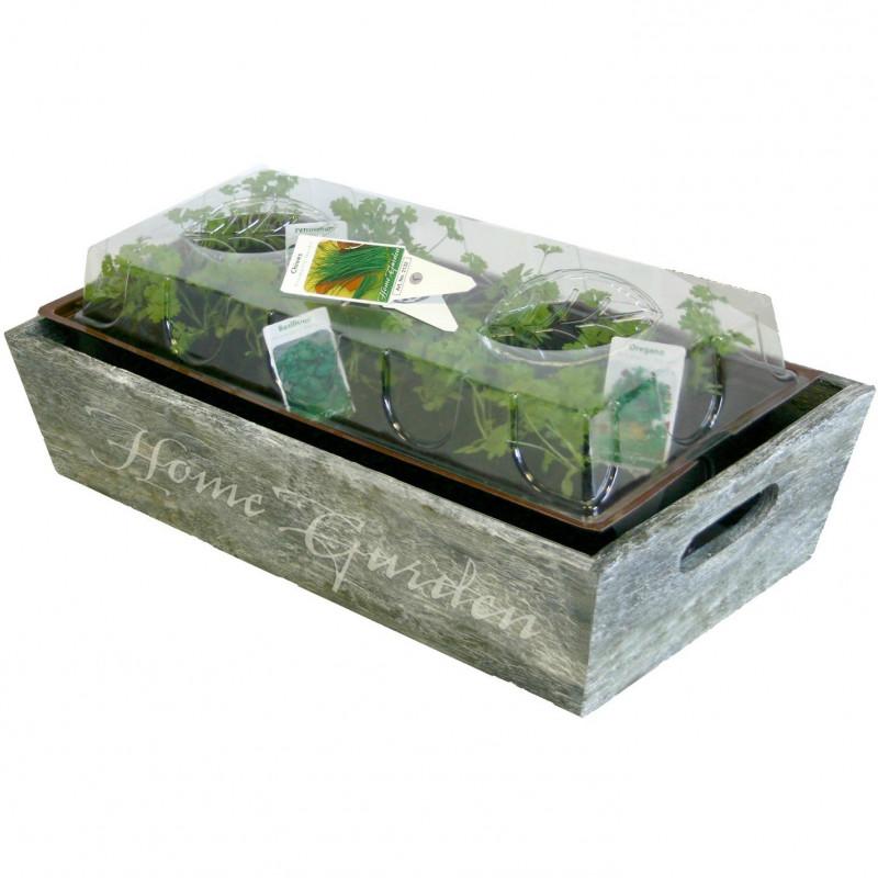 herbe aromatique jardini re bois jardini res en bois. Black Bedroom Furniture Sets. Home Design Ideas