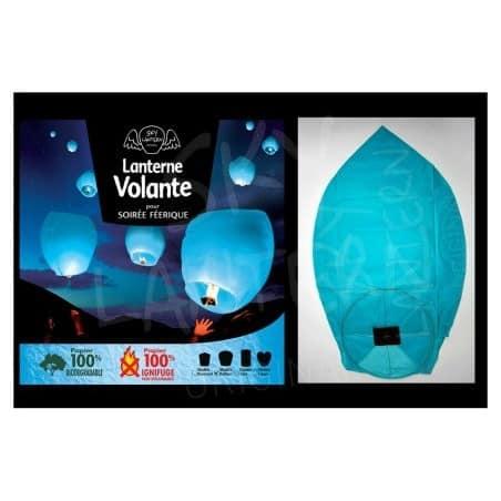 Lanterne volante bleue X1