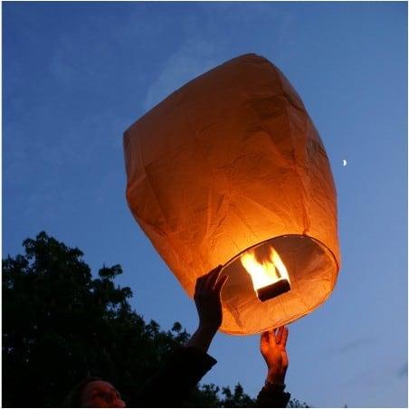 Lanterne volante verte X5