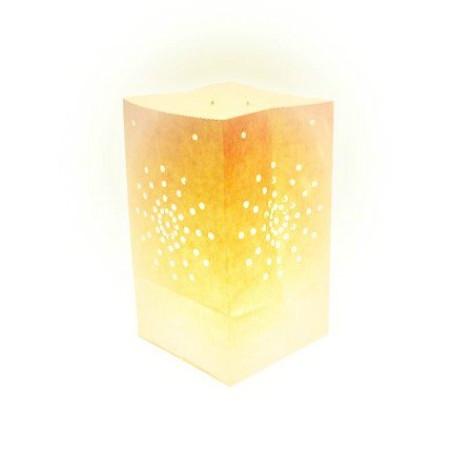 Lanterne papier blanche (X10)