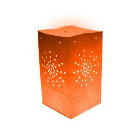 Lanterne papier orange (x10)