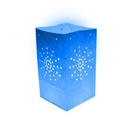 Lanterne papier bleue (X10)