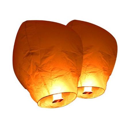 Lanterne volante blanche X 5