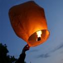 Lanterne volante blanche X10