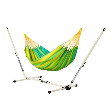 Set Hamac simple Sonrisa Lime et support métal