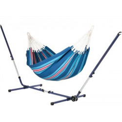 Set Hamac simple Currambera blueberry et support métal