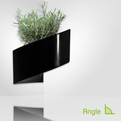 Pot de fleur design noir pour coin