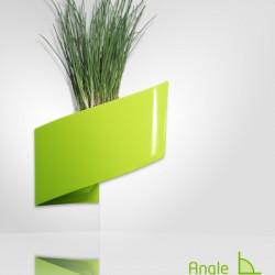 Pot de fleur design vert pour coin