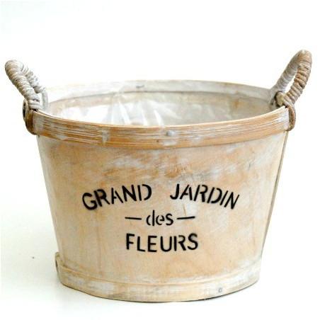 Pot de fleurs déco bois