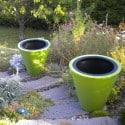 Pot de fleur design bicolore Open Line