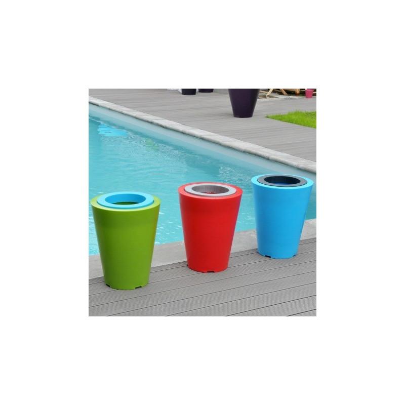 Pot de fleur design bicolore Up XS avec réserve d'eau