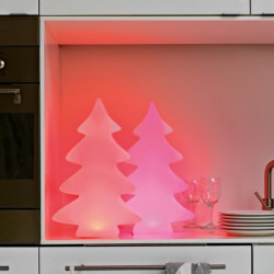 Arbre lumineux 40 cm LED multicolore d'intérieur