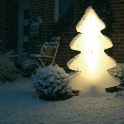 Sapin lumineux LED multicolore indoor et outdoor 115 cm
