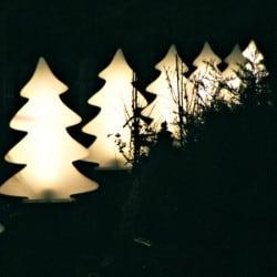 Arbre lumineux blanc éclatant 82 cm intérieur et extérieur
