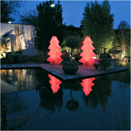 Sapin lumineux rouge indoor et outdoor 115 cm