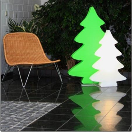Arbre lumineux blanc 115 cm intérieur et extérieur