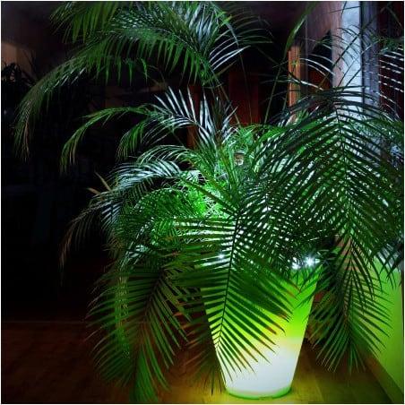 Pot de fleur lumineux double - 80cm