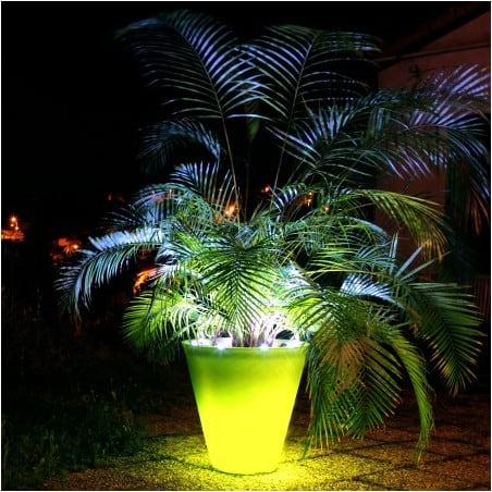 Pot de fleur lumineux bicolore 120cm