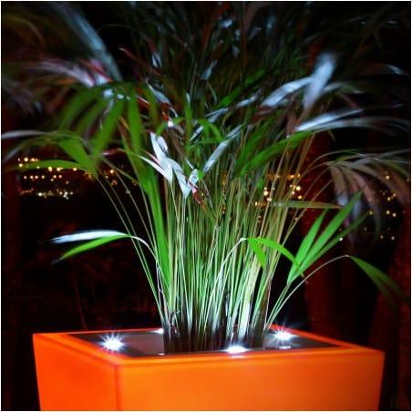 Pot de fleur design à LED Stark S 80 cm