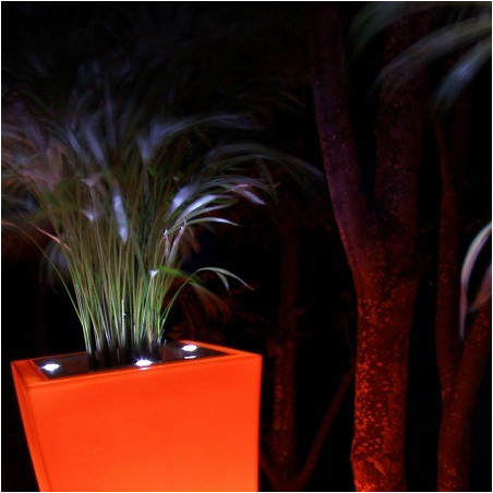 Pot de fleur design à LED Stark M Double 1M
