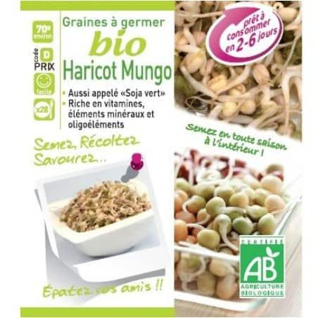 Haricot Mungo vert  à germer