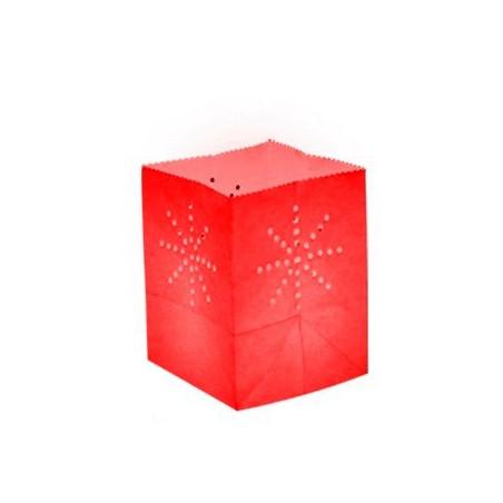 Lanterne papier medium rouge  (x10)