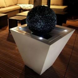 Pot de fleur lumineux carré LED 60cm