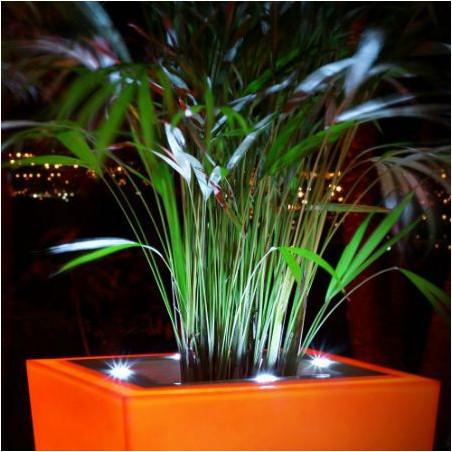 Pot de fleur lumineux  carré LED - 1M bicolore