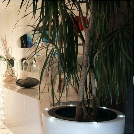 Pot de fleur lumineux bicolore conique LED - 60cm