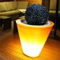 Pot de fleur bicolore lumineux - 60 cm