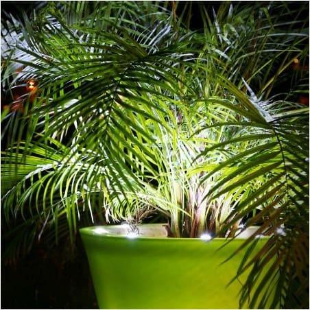 Pot de fleur lumineux  LED - 120cm bicolore