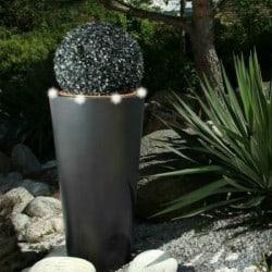 Pot de fleur lumineux conique avec anneau bicolore LED - 1m