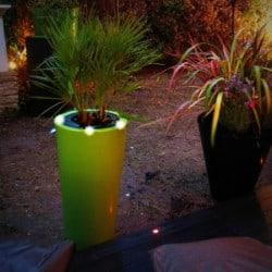 Pot de fleur lumineux bicolore conique LED - 1,2M