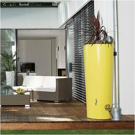 Récupérateur d'eau 350L et bac à plante - lemon