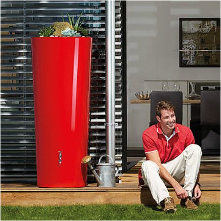 Récupérateur d'eau 350L et bac à plante - tomato