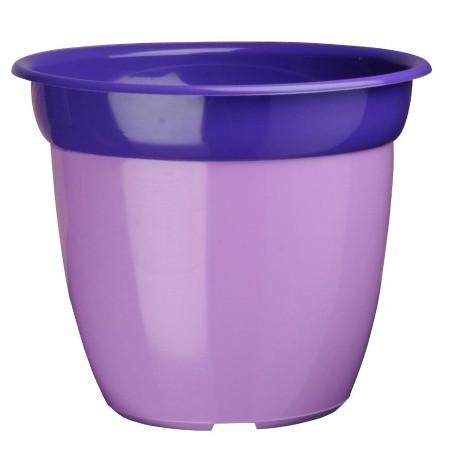 Pot de fleur bi color - Mauve/ Violet