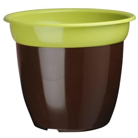 Pot de fleur bi color - Anis/ Chocolat