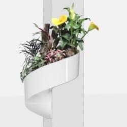Pot de fleur mural design blanc