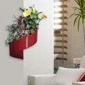 Pot de fleur mural design rouge