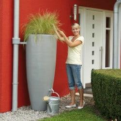 Récupérateur d'eau 300L - 2en1 - Gris