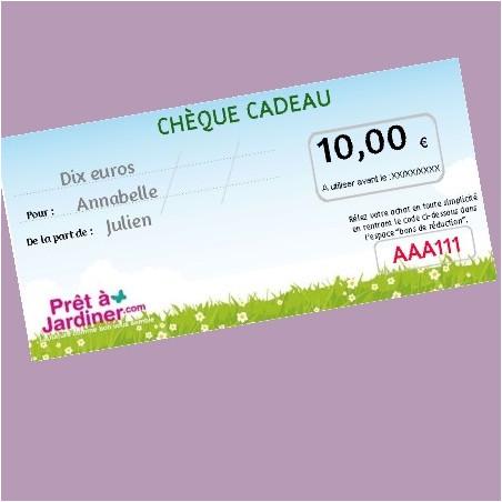 Chèque Cadeau Nature 10€
