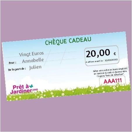 Chèque Cadeau Nature 20€