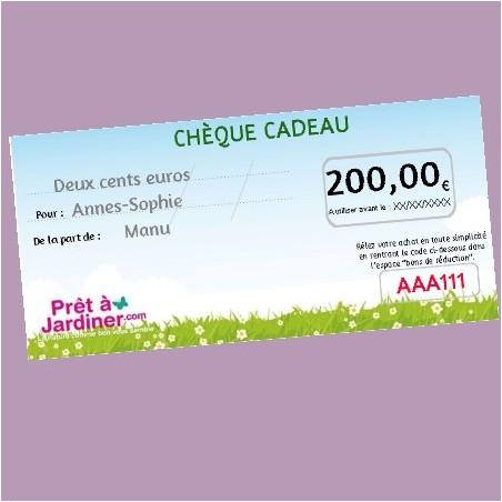 Chèque Cadeau Nature 200€