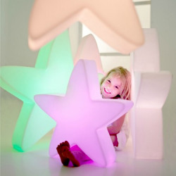 Etoile lumineuse LED 50 cm multicolore