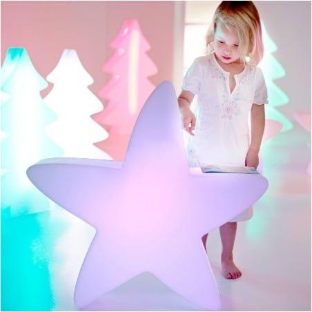 Etoile lumineuse LED 70 cm multicolore