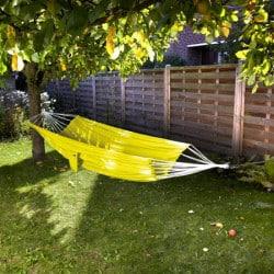 Hamac simple parachute jaune
