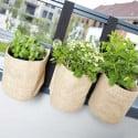 Triple jardinière suspendue en toile de Jute pour balcon