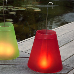 Lampe photophore rouge