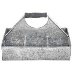 Soucoupe 6 compartiments en vieux zinc