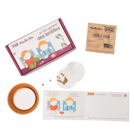 Kit de germination Lentille pour enfants